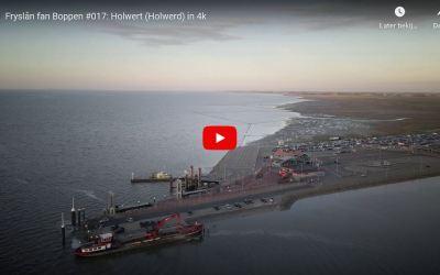 Dronebeelden van Holwerd en de pier