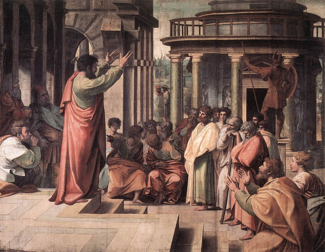 Sv. Pavao propovijeda, Rafael Santi