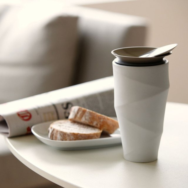 Lid Porcelain Mug Travel