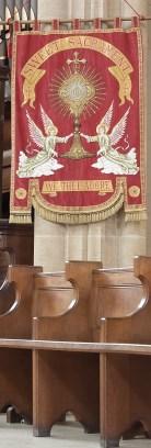 Banner on Gospel side