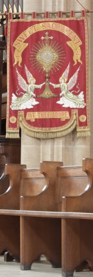 Banner on Gospel side