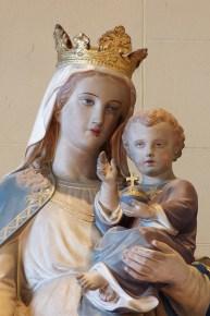 Closeup of the statue