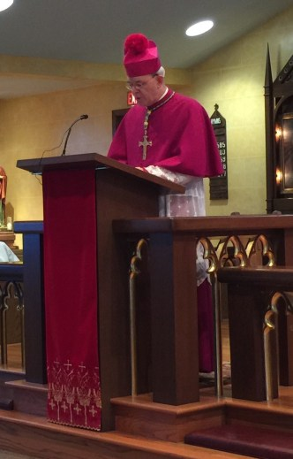 Bishop Schneider speaking at Holy Ghost