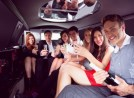 People inside a limo
