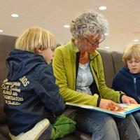 Granny teaching twins