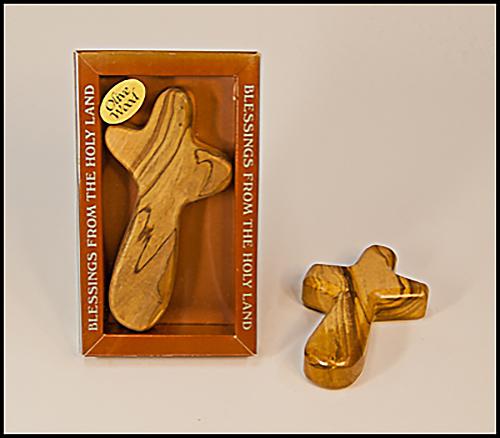 Olive Wood Hand Cross - CR1465-10