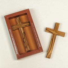 Olive Wood Hand Cross - 1470A-12