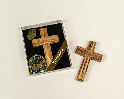 Olive Wood Hand Cross - CR-1470A-8