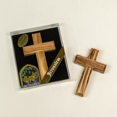Olive Wood Hand Cross - CR-1470A-8