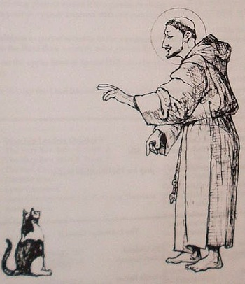 St. Francis and the cat
