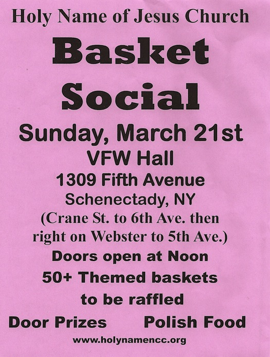 Basket Social, Schenectady NY, March 21, 2010
