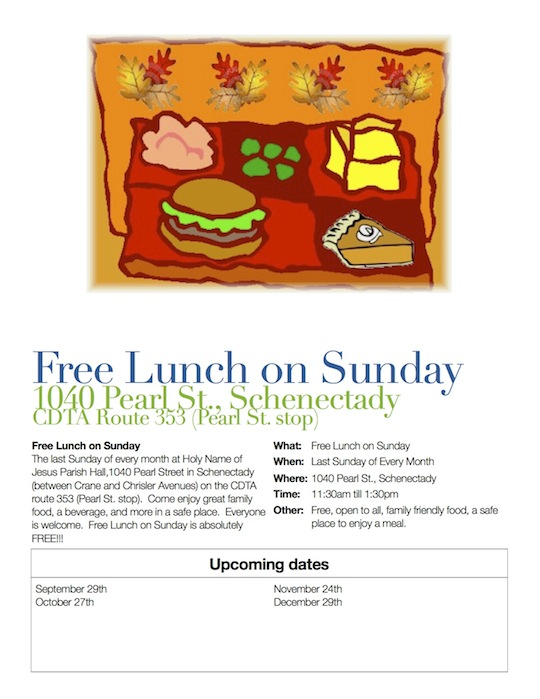 Soup on Sunday Flyer - Fall
