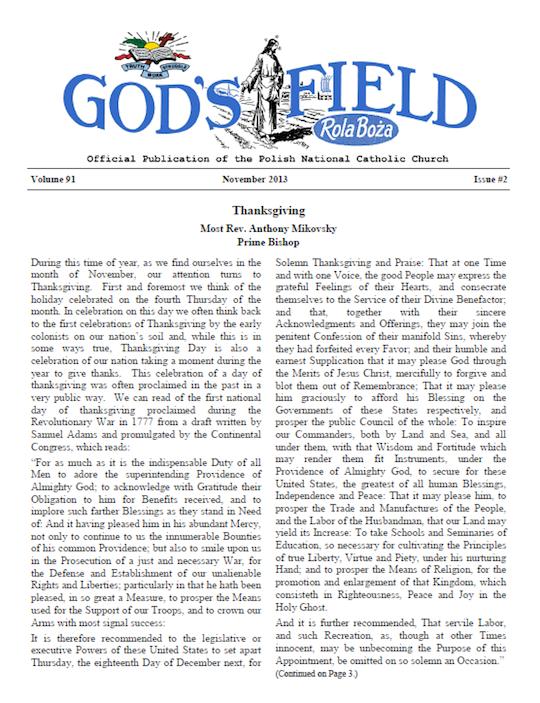 God's Fie;d November 2013