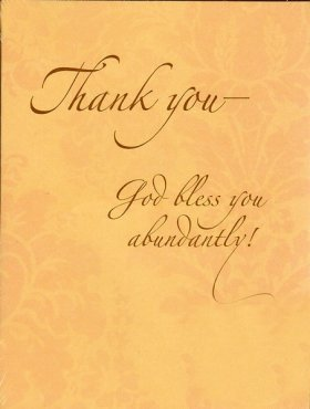 Thank You God Bless You Abundantly