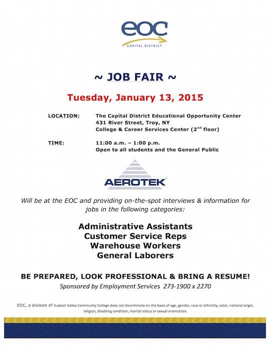 Mini Job Fair  Flyer Jan 13 2015 Areotek