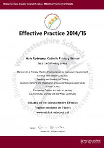 Effective Practice Certificate