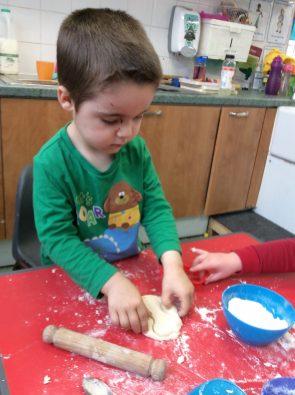 making salt dough bones