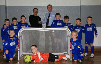 Dumbarton Riverside FC with their new goalposts