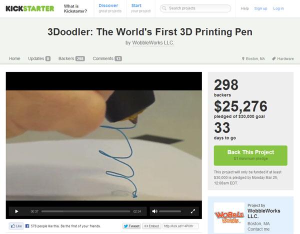 3D Doodler Kickstarter