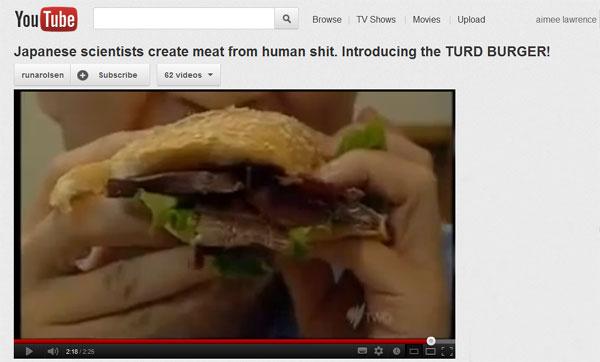 Youtube turd burger