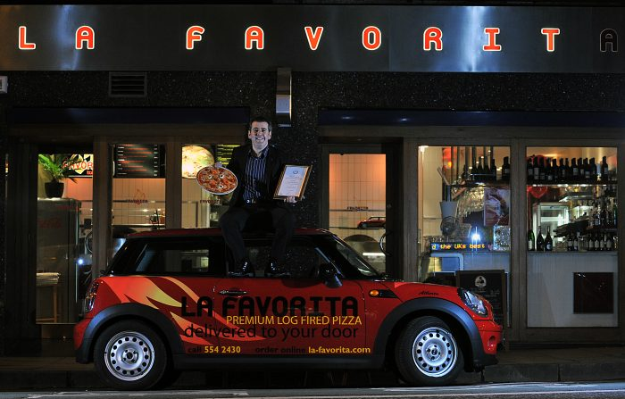 Food and Drink PR photography LA favorita pizza van