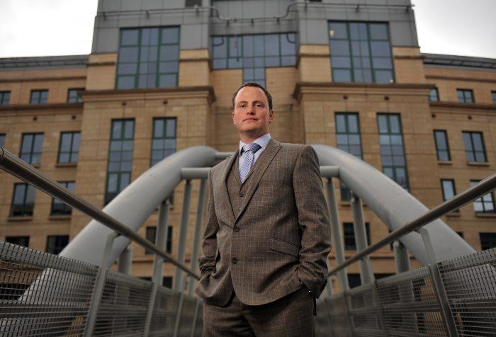 Scottish PR photography headshot of Donald Simpson Cowiesburn Asset Management