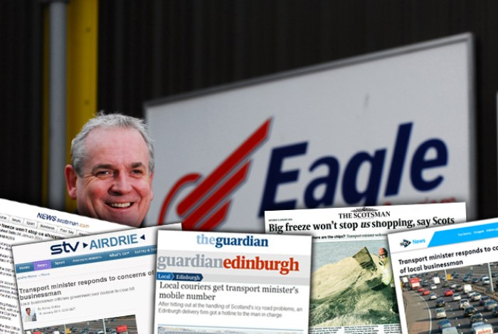 Eagle Couriers Director Jerry Stewart M8 Closure