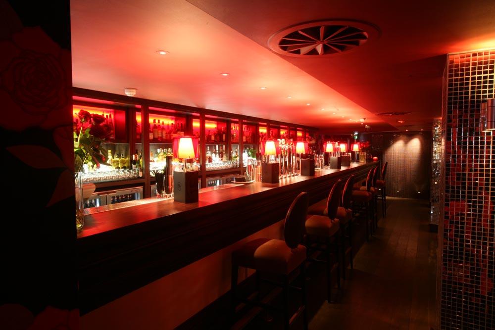 Hotel PR photograph of eclectic bar in Lulu part club-part bar underneath Tigerlily, Edinburgh