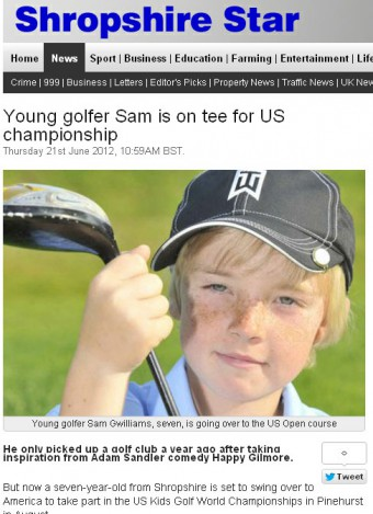 U.S. Kids Golf in Shropshire-Star-onli