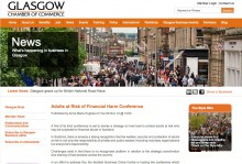 Glasgow Chamber of Commerce Website