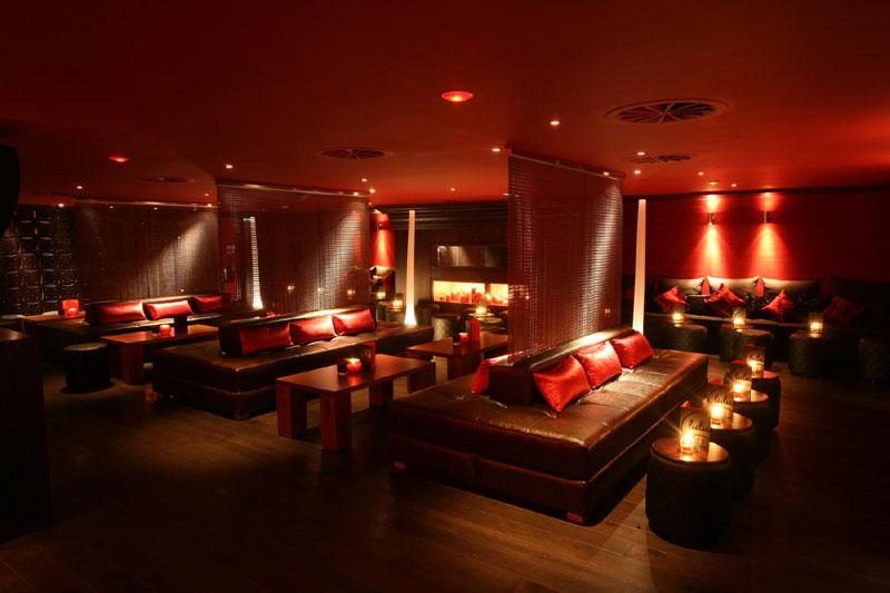 Food and drink PR photograph of lush interior of Lulu part club-part bar underneath Tigerlily, Edinburgh