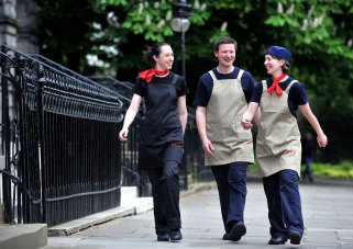 Public relations in Edinburgh for restaurant staff new uniforms