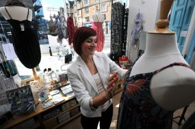Staff at fashion boutique Bohemia in Edinburgh, Scotland. Public relations success for ecommerce specialists who helped Bohemia fashion outlet to expand rapidly online