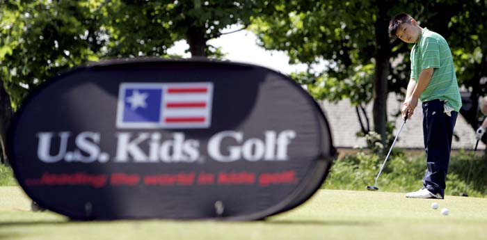 PR photos for children's golf tournament in East Lothian, near Edinburgh, Scotland