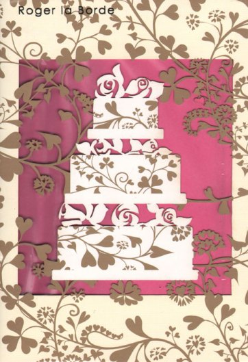 Intricate fretwork wedding cake design by Roger la Borde.