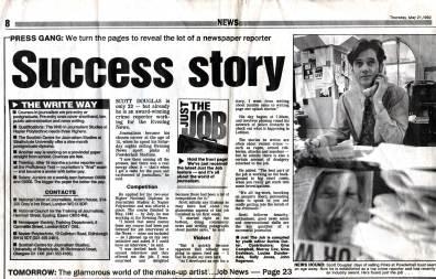 1988: First Job at Edinburgh Evening News