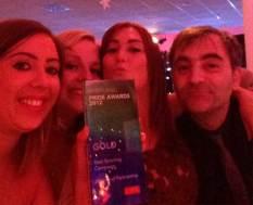 2012 PR Award winner celebrating with the team
