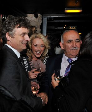 The launch Divino Enoteca, is captured in a PR photograph