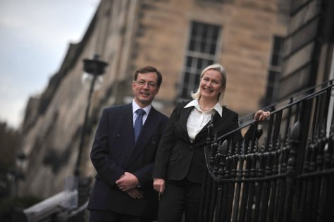 Scott and Fiona Rasmusen of Gibson Kerr Solicitors