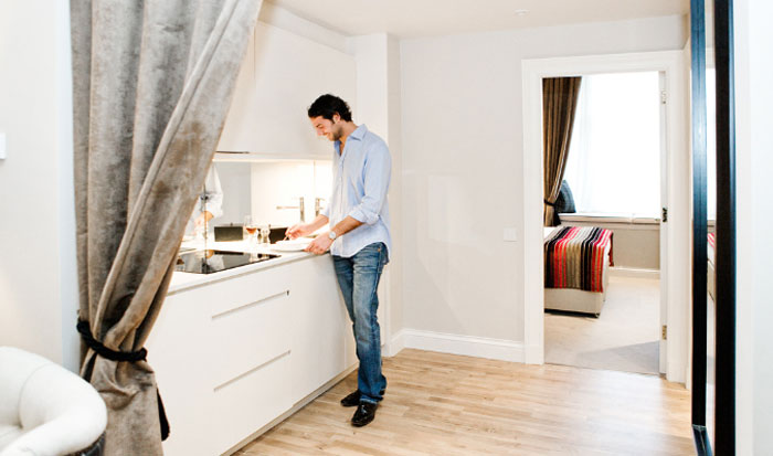 Guests enjoy the unrivalled facilities at Fraser Suites Edinburgh, captured in hotel PR photography