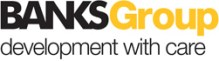 The logo of the Banks Group, us used by the firm's PR agency, Holyrood PR in Scotland