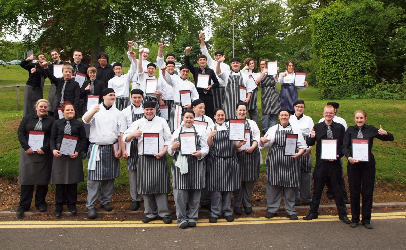 Perth College Hospitality Students