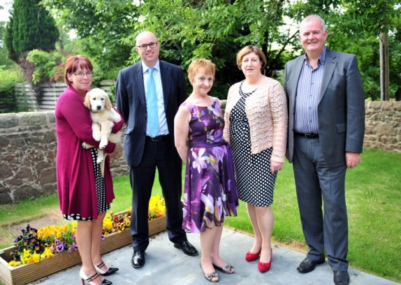 Paul Edie and Annette Bruton of the Care Inspectorate meet the owneres and manager of Astley House