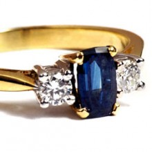 Scottish Sapphire part of PR in Edinburgh, Scotland for an eminent jeweller