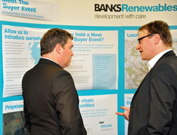 When Banks Renewables held a public exhibition, PR agency Holyrood Partnership organised the PR photography
