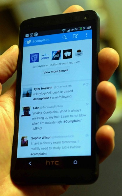 Twitter on Android phone