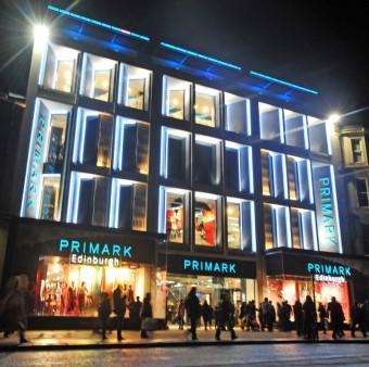 Primark-at-Night in Edinburgh