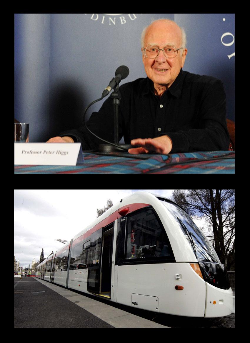 Professor Higgs. And a tram