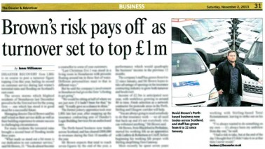 The Courier has covered news of LBSI's expected £1m turnover in year one of business