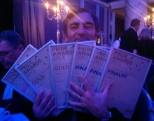 Raymond's armful of public relations awards for Holyrood PR